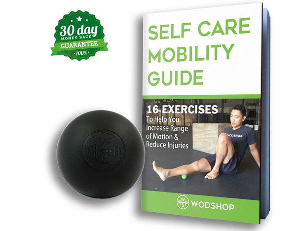 WODshop Self Care Massage Ball Kit of 2 Balls for Mobility, Physical Therapy - Set of 2