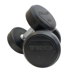 TKO SOLID STEEL RUBBER DUMBBELL SET