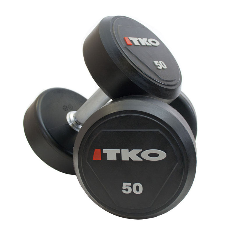 TKO SOLID STEEL URETHANE DUMBBELL SET