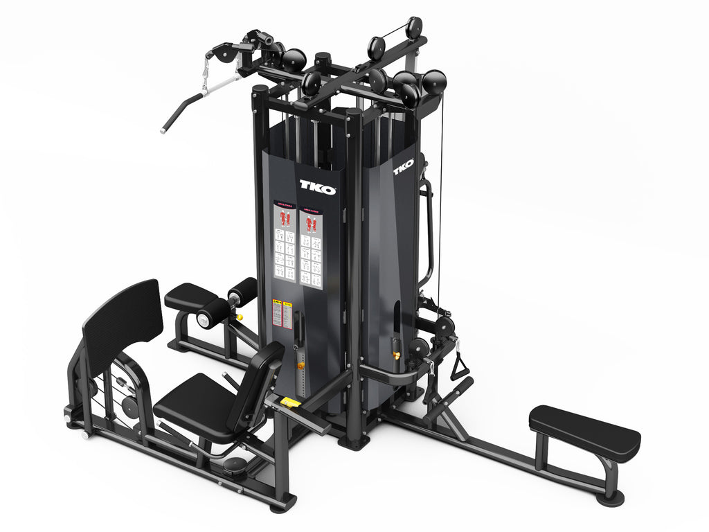 4-Stack Cable Machine W/Leg Press