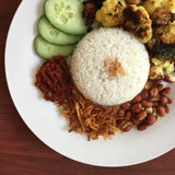 Vegan Nasi Lemak with Lemongrass Cauliflower