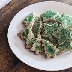 New! Sparkly Pandan Shortbread