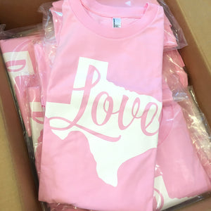 New Love Texas Shirts in Pink Are Here!