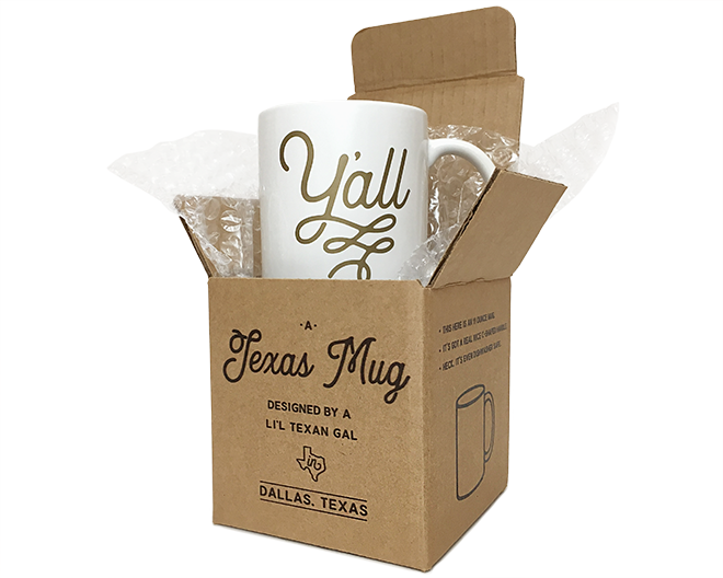 Texas Coffee Mugs With Gift Box | Online Texas Store