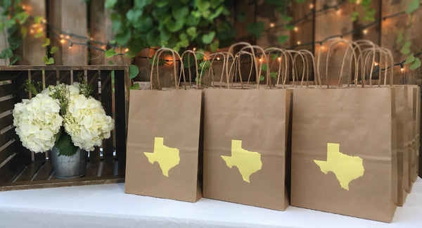 Texas Gift Bags for Wedding