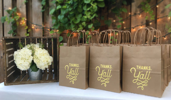 Thank You Bags for Country Rustic Weddings
