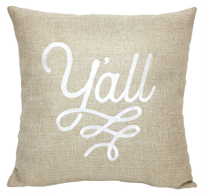 Y'all Texas Pillow Cover | Texas Wedding Gifts