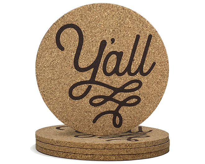 Texas Y'all Coasters | Texas Wedding Gifts