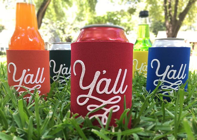 Y'all Texas Can Cooler Beverage Insulator | Texas Wedding Gifts
