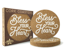 Bless Your Heart Texas Cork Coasters 3.5 Inch Coasters - Set of 4