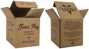 Texas Coffee Mug I'm Fixin' To Silver Design 11 oz Mug with Gift Box