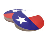 Texas Gift Tag with Texas Flag 2.5 Inches Round Texas Hang Tag - Set of 24
