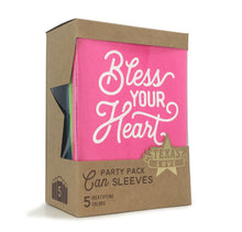 Bless Your Heart Party Pack of Can Sleeves in Five Colors - Set of 5