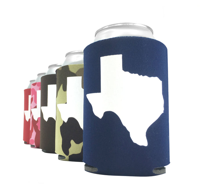 Texas Party Pack Can Sleeves in Five Colors - Set of 5