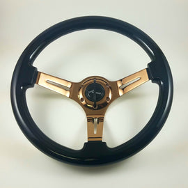 AVENUE STEERING WHEEL RAVEN BLACK W/ BRONZE SPOKES