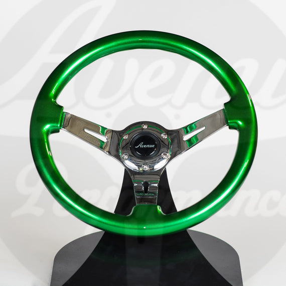 AVENUE STEERING WHEEL KRYPTONITE/ CHROME SPOKES