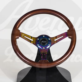 AVENUE STEERING WHEEL COCONUT/ NEOCHROME SPOKES
