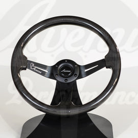 AVENUE CARBON FIBER/ BLACK SPOKES STEERING WHEEL