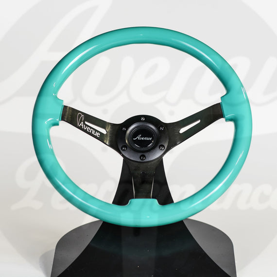 AVENUE MINTY GREEN/ BLACK SPOKES STEERING WHEEL