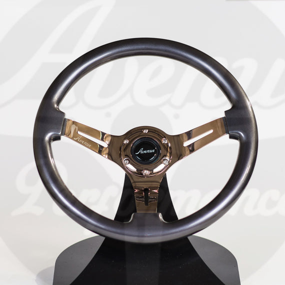 AVENUE TITANIUM W/ BRONZE SPOKES STEERING WHEEL