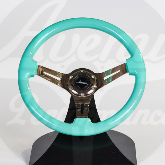 AVENUE STEERING WHEEL MINTY GREEN W/ BRONZE SPOKES