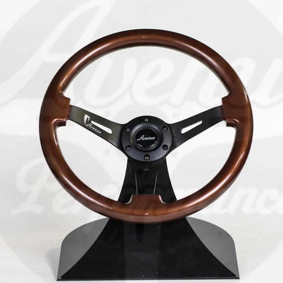 AVENUE COCONUT/ BLACK SPOKES STEERING WHEEL