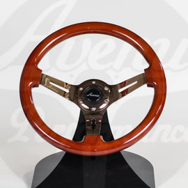 AVENUE STEERING WHEEL WOOD W/ BRONZE SPOKES