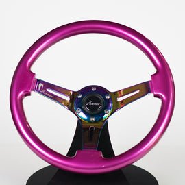 AVENUE PERSIAN PINK/ NEOCHROME SPOKES STEERING WHEEL