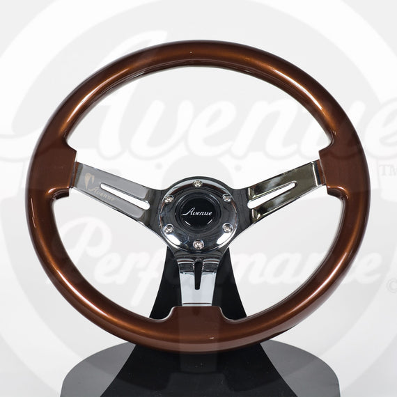 AVENUE COCONUT/ CHROME SPOKES STEERING WHEEL