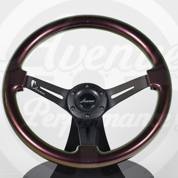 AVENUE VOODOO/ BLACK SPOKES STEERING WHEEL (LIMITED EDITION)