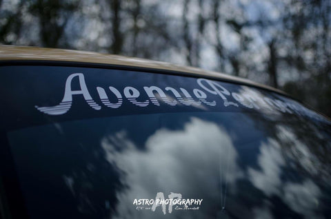 AVENUE PERFORMANCE WHITE CAR BANNER