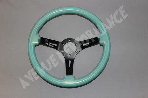 AVENUE STEERING WHEEL DEL MAR/BLACK SPOKES 350MM AS/IS