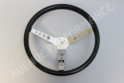 AVENUE VINTAGE STEERING WHEEL BLACK