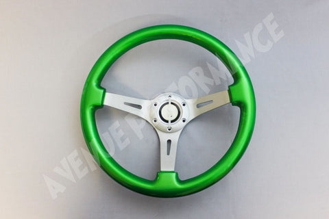 AVENUE STEERING WHEEL KRYPTONITE/ AL BRUSHED SPOKES