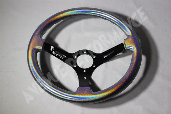 AVENUE STEERING WHEEL STARDUST/ BLACK SPOKES