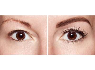 before and after using Lash Star lengthening mascara