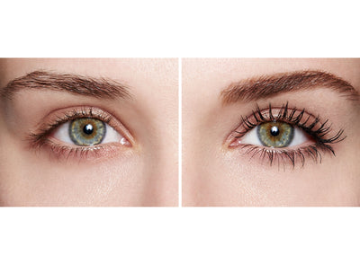before and after using the Lash Star Beauty Full Control Lash Sculpting Mascara