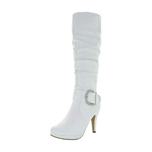 DREAM PAIRS Women's Knee High High Heel Winter Fashion Boots