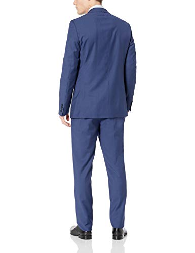 Calvin Klein Men's X-Fit Two-Piece Suit, New Blue 40 Regular