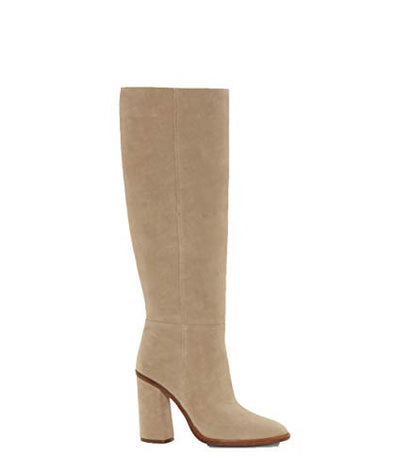 Vince Camuto Dameera Rich Suede Covered Block Heel Knee High Dress Boots (9, Southern Breeze)
