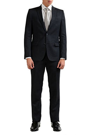 Versace Collection Wool Gray Two Button Men's Suit
