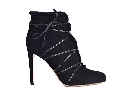 Gianvito Rossi Womens Aspen Black Suede Ankle Boots