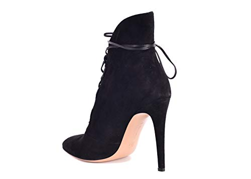 Gianvito Rossi Women's Black Empire Lace Up Ankle Boots