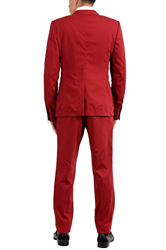 Dolce & Gabbana Men's Wool Silk Red Three Piece Suit US 40 IT 50