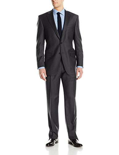 Hart Schaffner Marx Men's 2 Button Chicago Fit Suit with Single Pleat Pant