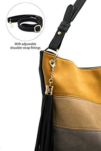 Handbags for Women Totes Hobo Shoulder Bags Tassels Stripes Top Handle Bags