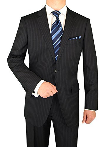 LN LUCIANO NATAZZI Italian Men's Suit 160'S Canali Cashmere Wool 2 Button Stripe