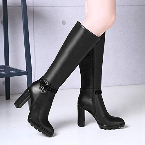 Women's high Boots Pointed Toe Western Style Spike High Heels Shoes Footwear