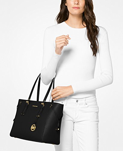 Michael Kors Voyager Medium Multifunction Top-Zip Tote (Oyster)