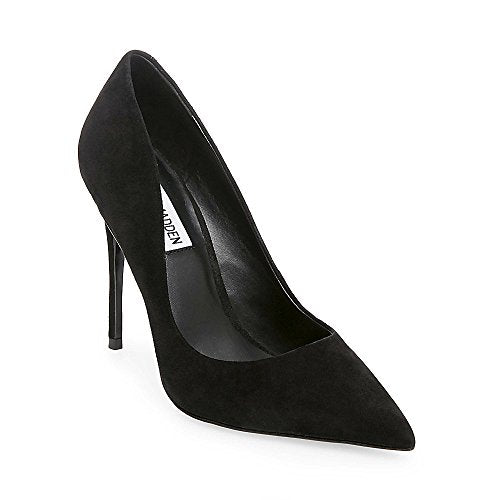 Steve Madden Women's Daisie Dress Pump, Black Suede, 7 M US